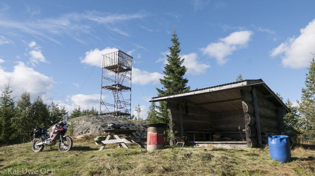 Turm und Windschutz - perfekt!